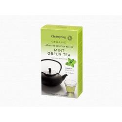Bio mentás zöld tea - 20db teafilter