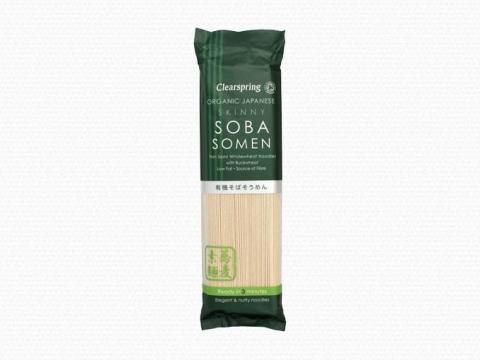 Bio japán Skinny Soba Somen (durva felületű, vékony) tészták