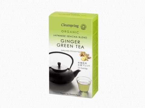 Bio gyömbéres zöld tea - 20db teafilter