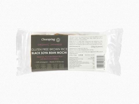 Bio barna rizs - fekete szójabab Mochi