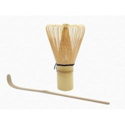 Bambusz Matcha Keverő És Kanál Szett