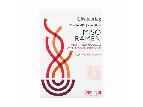 Bio japán miso ramen tészták miso gyömbér levessel